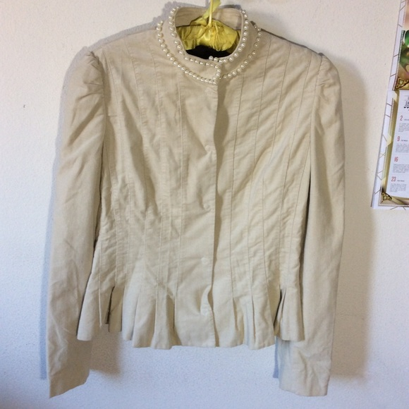 Bloomingdale's Jackets & Blazers - DAY Birger & Mickkelsen Cream Blazer Pearl Neck